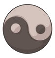 Ying yang icon cartoon style vector image vector image