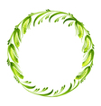 decorative branch of pussy willow vector image
