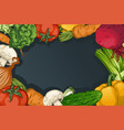 colorful drawing vegetables template vector image