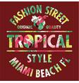 tropical style miami fashion street vector image