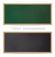 Blackboards Black and green vector image