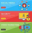 Flat design concept for social media security vector image