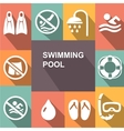 Swimming sign icon Pool swim symbol Sea wave vector image