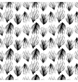 Abstract seamless pattern Black grass ornament vector image vector image