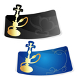 advertising sticker for hookah vector image vector image