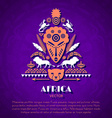 African Tribal Ethnic Art Background vector image vector image