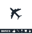 Airplanes icon flat vector image vector image