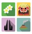 Bali Set of flat icons vector image