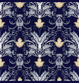 baroque vintage seamless pattern vector image vector image