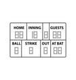 baseball scoreboard icon vector image vector image