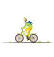 bicycle rider man in flat style man on a bike vector image