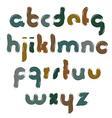 bright font handwritten watercolor lowercase vector image vector image