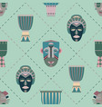 bright seamless pattern with african masks vector image vector image