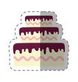 cake dessert bright shadow vector image vector image