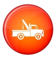 Car towing truck icon flat style