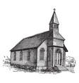 church vintage vector image vector image