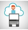 cloud computing character man vector image