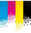 cmyk digital colour lines background design vector image