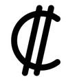 col n symbol currency costa rica and salvadoran vector image