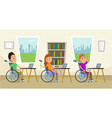 disabled people in wheelchair sitting at the vector image vector image