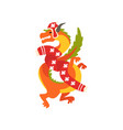 dragon symbol new year cute animal chinese vector image vector image