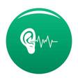 ear icon green vector image