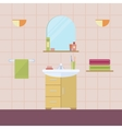 Element of the interior bathroom vector image