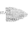 five stages of partnership text background word vector image vector image