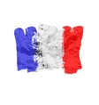 France flag painted by brush hand paints Art flag vector image vector image