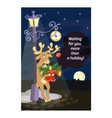 Funny deer with symbols of Christmas vector image vector image