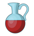 glass jug of wine icon cartoon style vector image vector image