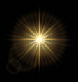 golden abstract explosion bokeh light rays and vector image