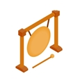 Gong icon isometric 3d style vector image