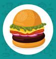 hamburger fast food menu vector image vector image