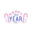 happy new year holiday wish written with elegant vector image vector image
