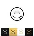 Happy smile logo or joy smiling icon vector image vector image