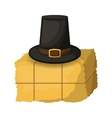 Hay and hat of Thanksgiving vector image vector image