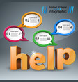 help 3d business infographics vector image vector image