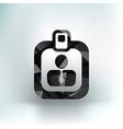 identification card icon profile search vector image