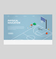 isometric physical education vector image vector image