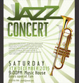 jazz poster 3 vector image vector image