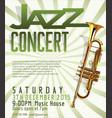 jazz poster 3 vector image vector image