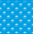 laboratory flasks pattern seamless blue vector image vector image
