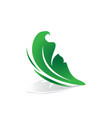 leaf shape butterfly beauty business logo image vector image vector image