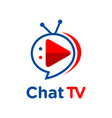 logo chat tv vector image vector image
