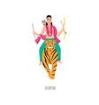 lord ayyappan hindu deity religious tradition vector image