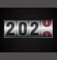 mechanical counter showing 2020 vector image vector image