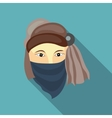 Muslim man icon in flat style vector image vector image