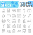 office thin line icon set business signs vector image vector image