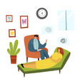 patient and psychotherapist flat isolated vector image